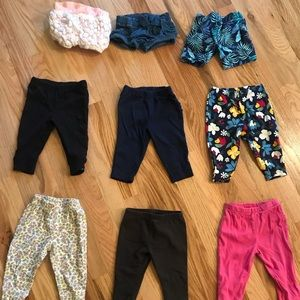 Other - 6 Month Leggings and Shorts Assorted Lot of 9